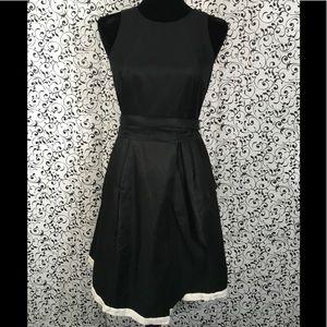 Banana Republic Black Dress with Ivory Trim